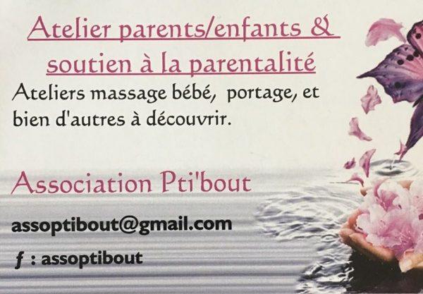 """Atelier à l'association """"ptibout"""""""